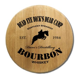 Kentucky Bourbon Barrel Head Sign