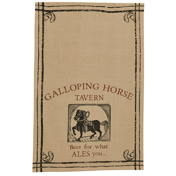 Galloping Horse Printed Dishtowel