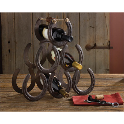 Horseshoe 6 Bottle Wine Rack