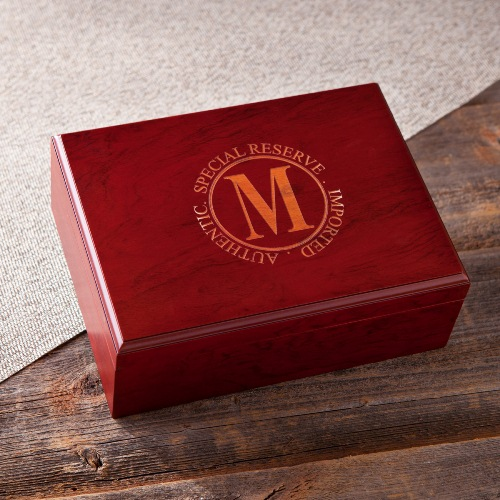 Monogram Cherry Wood Cigar Humidor