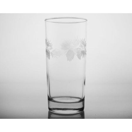 Etched Icy Pine Cooler Glasses (set of 4)