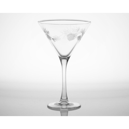 Icy Pine Etched Martini Glasses (set of 4)