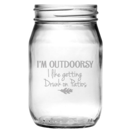 I'm Outdoorsy Mason Jar Glasses (set of 4)