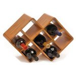 Greenophile Bamboo 8-Bottle Wine Rack