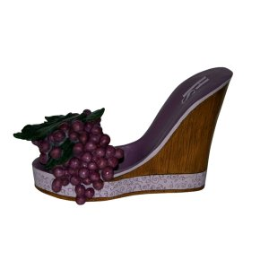Grapes High Heel Wine Bottle Holder