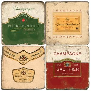 Champagne Italian Marble Coasters