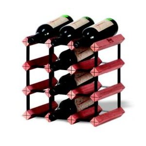 Modular Wine Rack 12 Bottle Display Kit