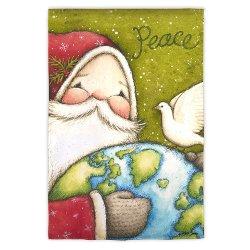 Peace Santa Flag