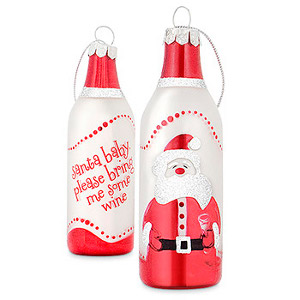 Santa Baby Wine Bottle Tree Ornaments