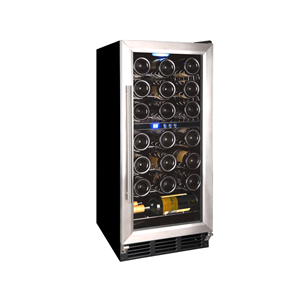 Vinotemp 32-Bottle Wine Cellar - Black/Stainless-Steel