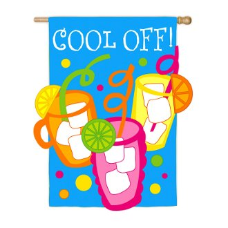 Cool Off Garden Size Applique Flag