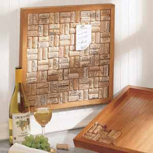 Wine Cork Bulletin Board - Oak