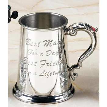 Best Man Pewter Tankard