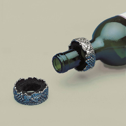 Pewter Wine Bottle Drip Ring