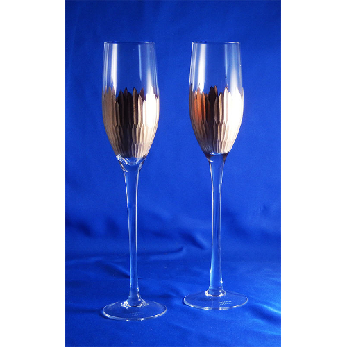 Lenox Imperial Caviar Gold Leaf Champagne Flutes (set of 2)