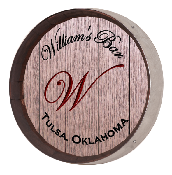 Personalized Large First Initial Barrel Sign