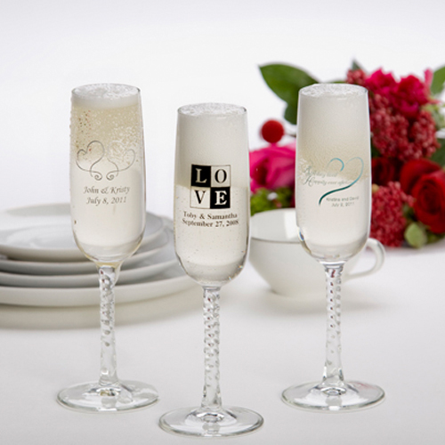 Printed Champagne Flutes (set of 24)