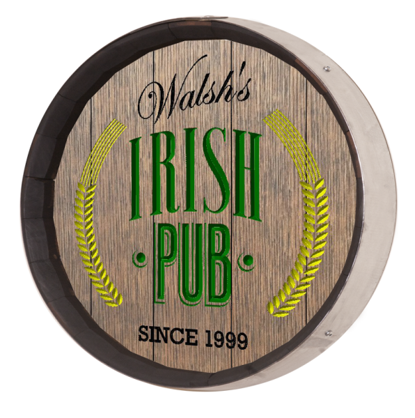 Personalized Irish Pub Barrel Sign