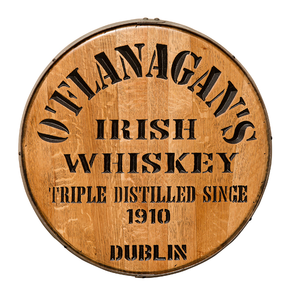 Personalized Irish Whiskey Barrel Head Sign
