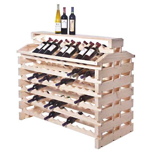 144 Bottle Deluxe Wooden Modular Island Wine Rack