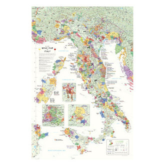 Delong's Wine Map of Italy