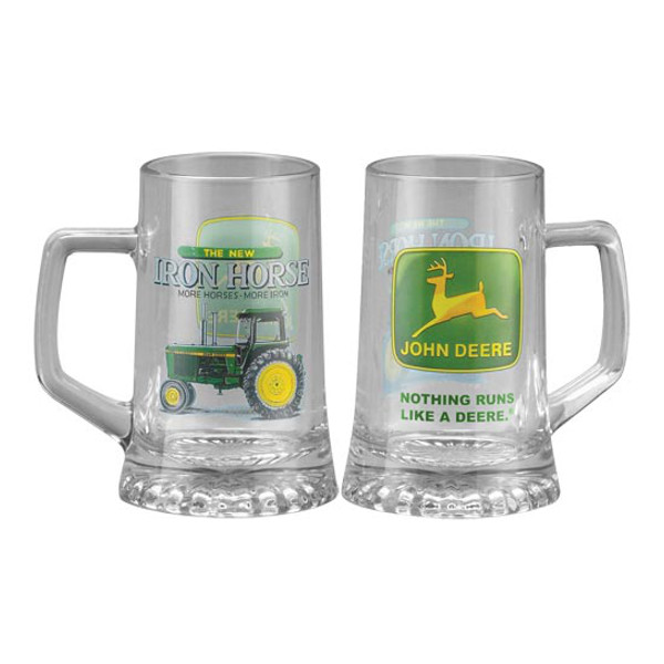 John Deere Iron Horse Glass Beer Mug