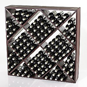 Jumbo Bin 120 Bottle Wine Rack Mahogany