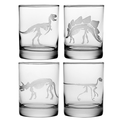 Jurassic DOR Glasses (set of 4)