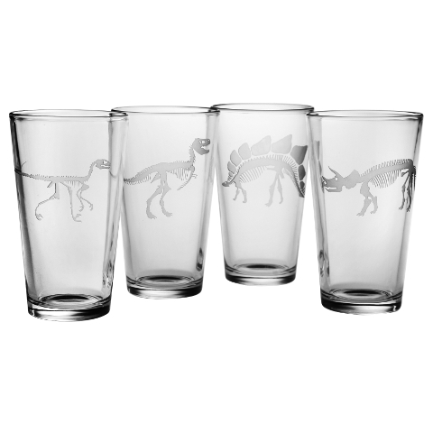 Jurassic Pint Glasses (set of 4)
