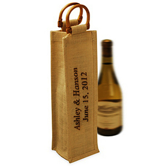 Personalized Jute Wine Bag
