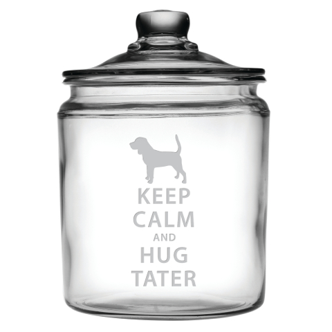 Personalized Keep Calm and Hug Your Pet Treats Jar