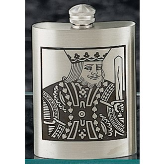 King of Spades Pewter Flask