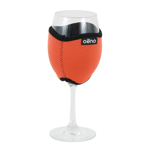 Vino Hug Neo - Orange Wine Glass Koozie