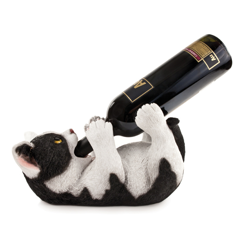 Kurled Kitty Wine Bottle Holder