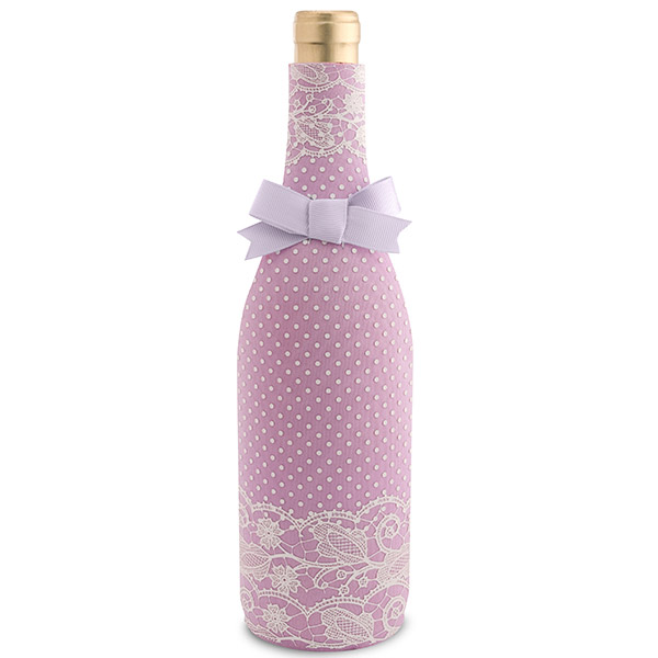 Lavender Lace Neoprene Wine Bottle Koozie