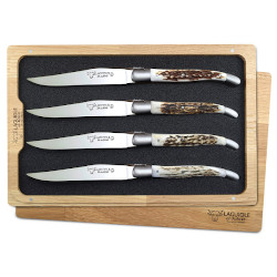 Laguiole en Aubrac Stag Horn Steak Knives Set of 4