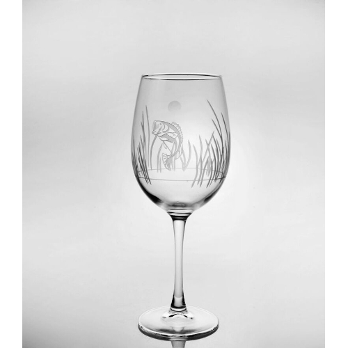 Lake Fish Large Stemmed Wine Glasses (set of 4)