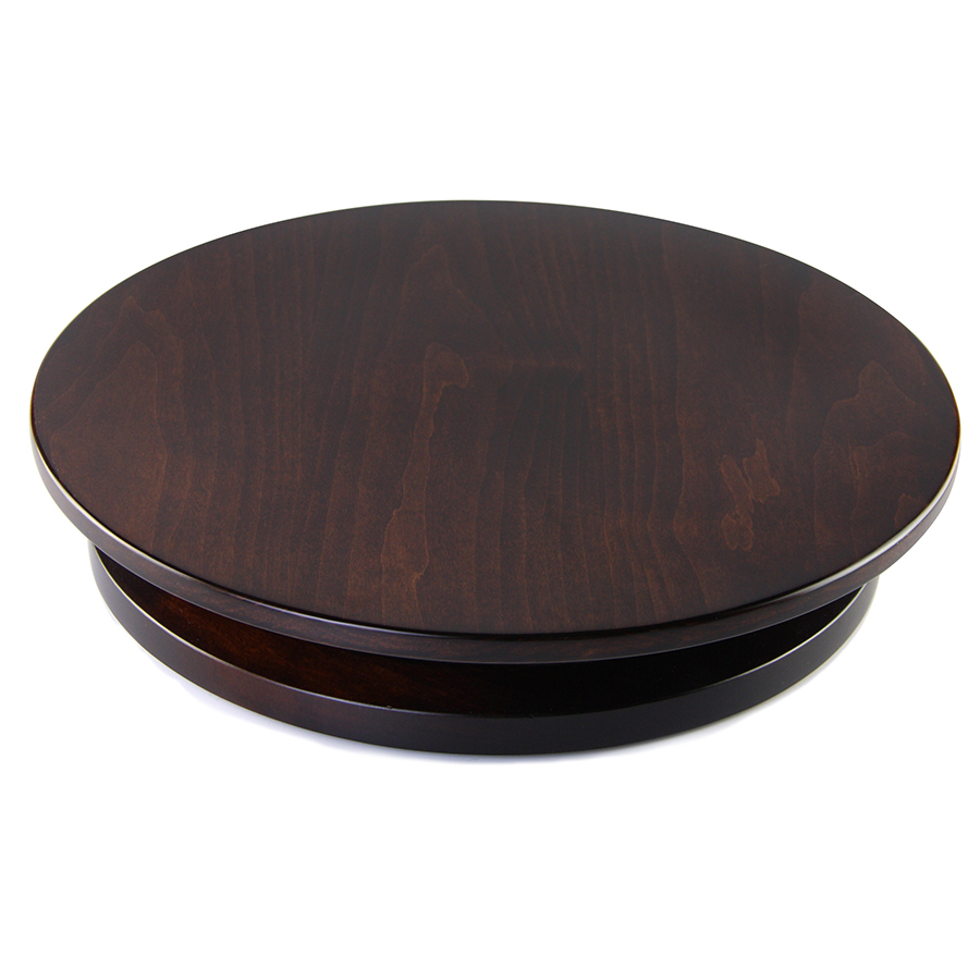 Artisan Wood Tobacco Brown Maple Lazy Susan