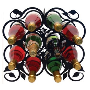 Large Table Top Iron Leaf Wine Rack