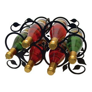 Wrought Iron Leaf Wine Rack - Medium
