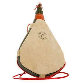 One Liter Leather Straight Bota Bag