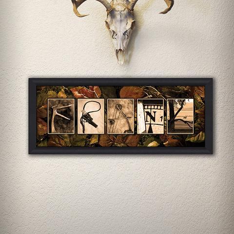 Hunting Name Print
