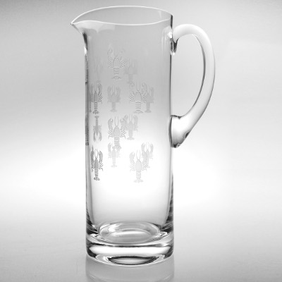 Lobster Pod Glass Pitcher