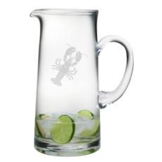 Lobster Etched Tankard Pitcher