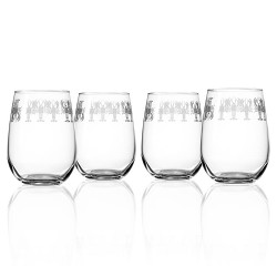 Lobster Pod Stemless Wine Glasses (set of 4)
