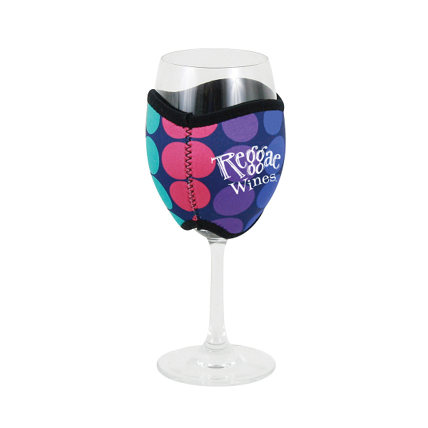 Neoprene Insulating Wine Glass Hug Motif with Company Logo (set of 36)