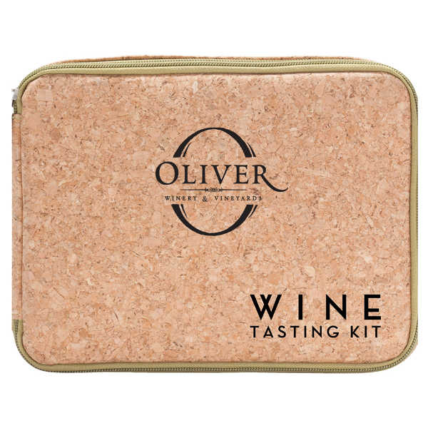 Cork Design Wine Tasting Kit with Company Logo (Set of 36)