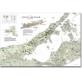 Delong's Wine Map of Long Island