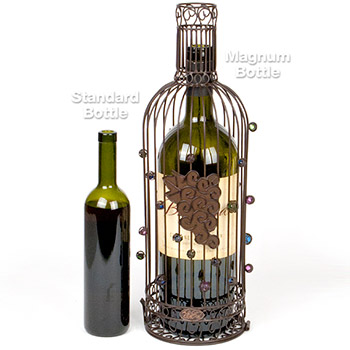 Large Wine Bottle Cork Cage or Magnum Wine Bottle Holder