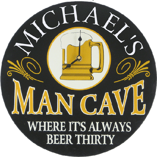 Personalized Man Cave Clock
